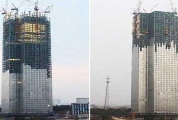 شركة صينية تشيد برجاً من 57 طابقاً في 19 يوماً