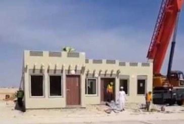 صحيفة أملاك تتابع تنفيذ مراحل بناء المنازل بالتقنية الجديدة في أرض وزارة الإسكان شمال مدينة الرياض