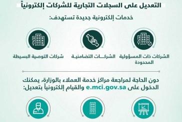 وزارة التجارة والاستثمار تتيح خدمة تعديل السجل التجاري إلكترونياً للشركات