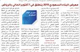بمشاركة 534 شركة عارضة من 34 دولة.. معرض البناء السعودي 2019 ينطلق في 7 أكتوبر الحالي بالرياض